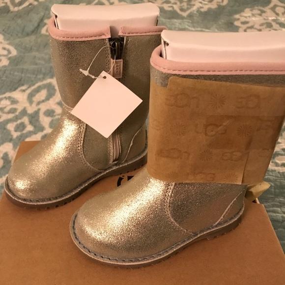 0573132d9b2 Uggs Toddler Girl Boots Size7T Corene Metallic NWB NWT